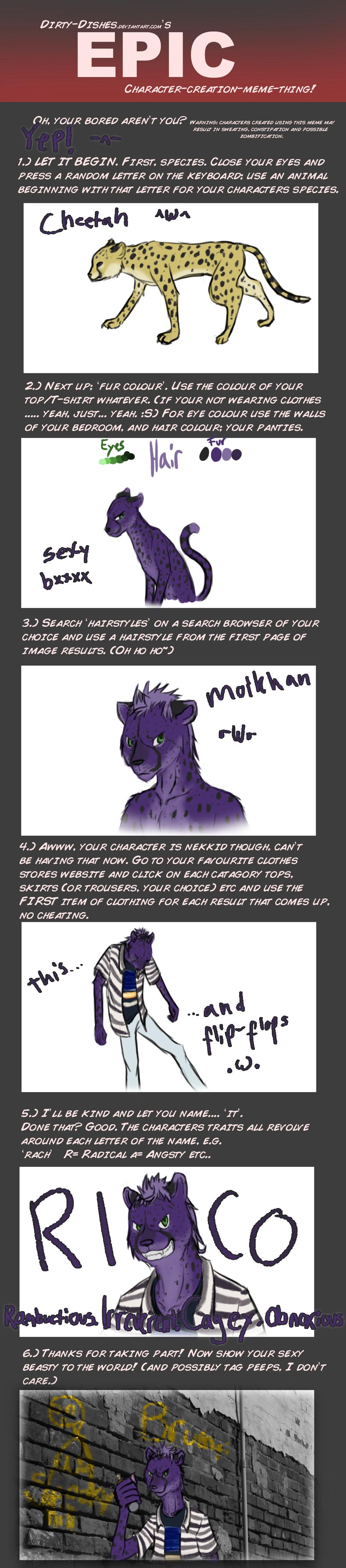 Character Design Meme : Create character meme rico by midaxz on deviantart