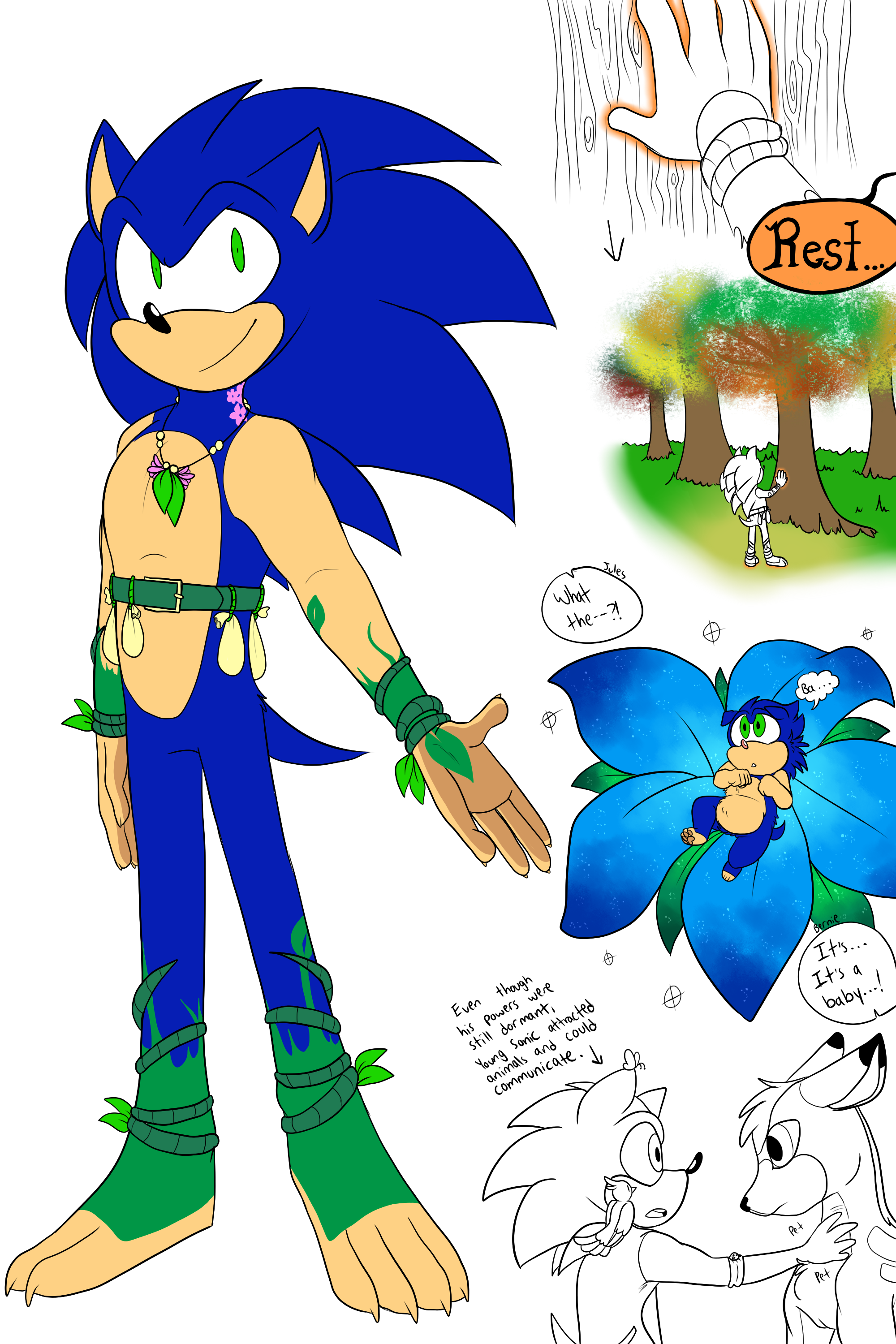 Mother Nature Au Sonic Plus Doodles By Gingygin On Deviantart