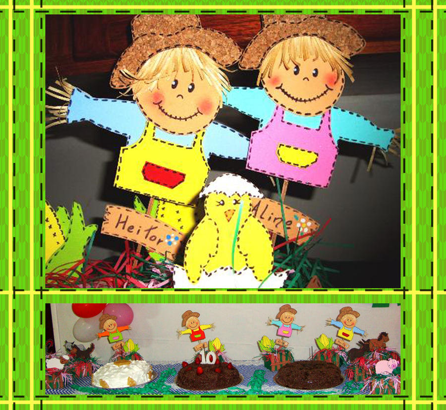 Scarecrow bday party decoration by wk omittchi on deviantart for B day decoration
