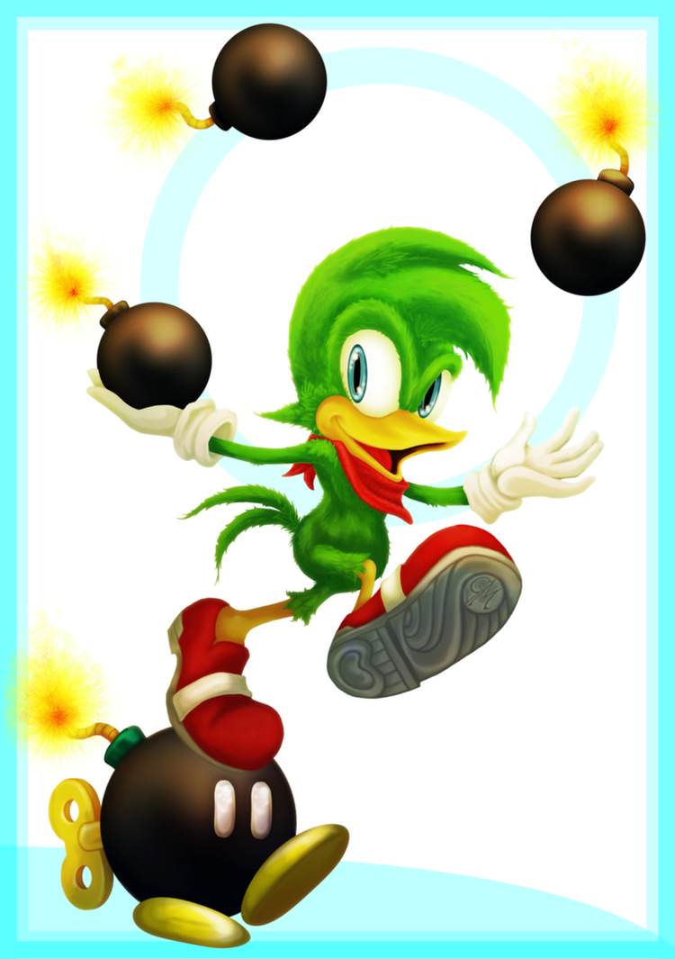 Bean the Dynamite!  Sonic Collab by wk-omittchi