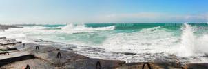 Crash Wave Foam Panorama
