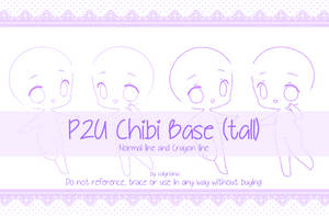 [P2U] Chibi Base (tall) by Valyriana