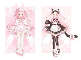 [Closed] Bunny and Kitty maid by Valyriana