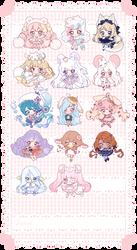 [C] Mini Chibi Commissions by Valyriana