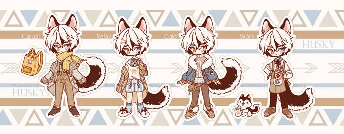 [CLOSED] Husky Boy adoptable