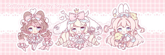 [CLOSED] Sweet and Pastel Cottony Adopts