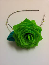 Green Rose 2 by rainycloudywindy