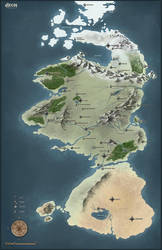 Dungeons and Dragons Map by DeeLock