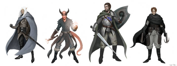 Dungeons and Dragons Party Lineup by DeeLock