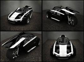 3 Wheel Concept Vehicle View