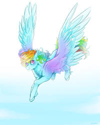 Shine like rainbow in the sky
