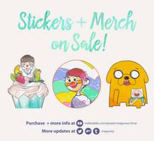 Stickers + Merchs on Sales!