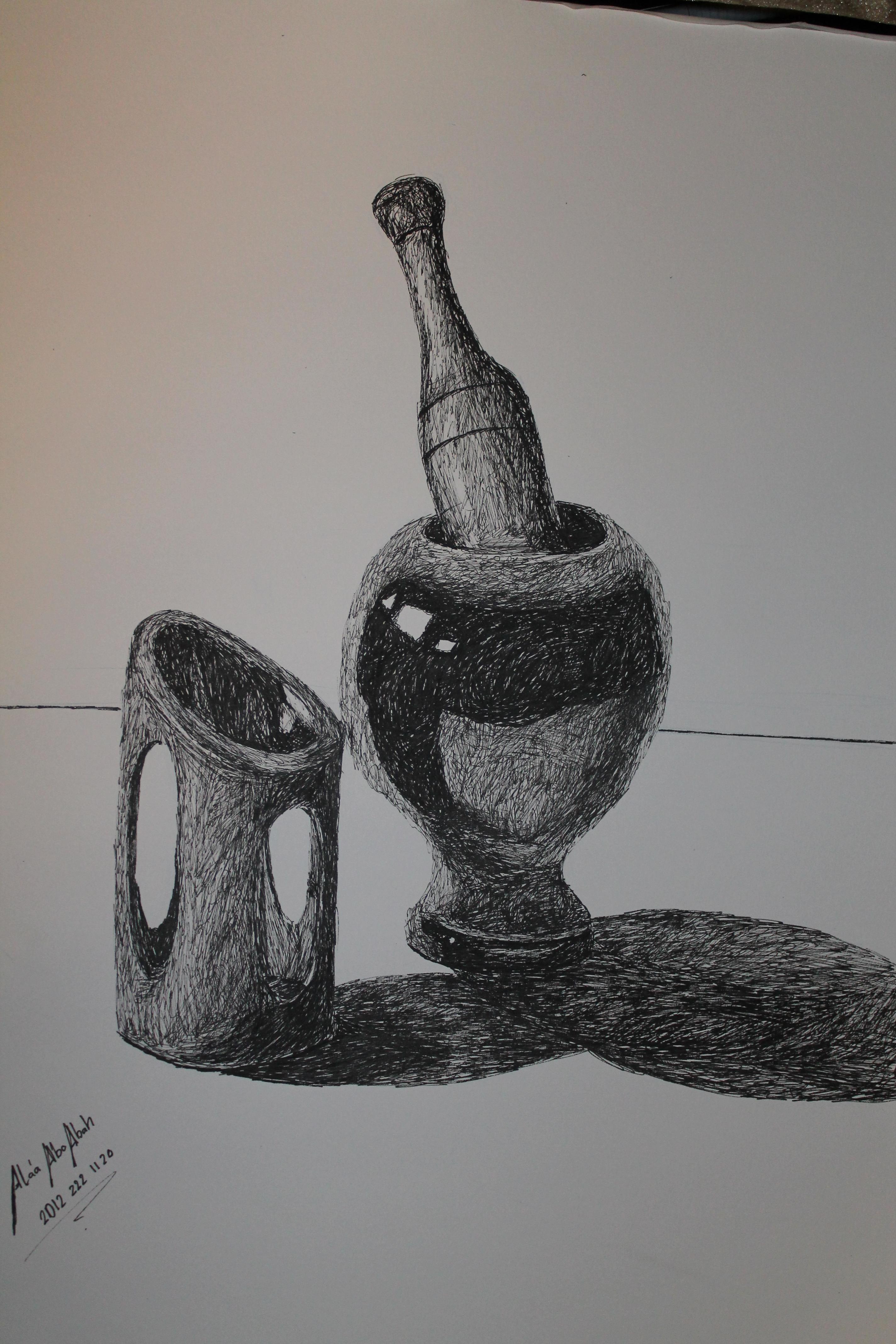 Scribble Drawing Still Life : Still life scribble by alaaaboabah on deviantart