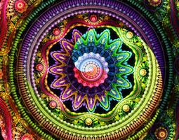 Psychedelic Mandala by WorldMadness
