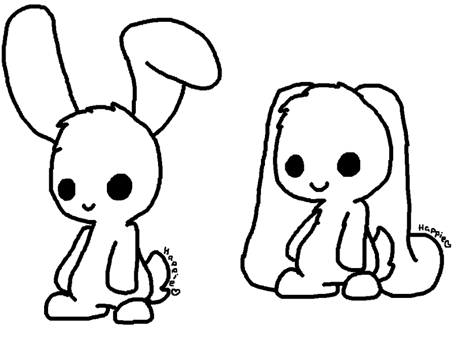 Chibi Bunny Lineart By Cocoaadopts On Deviantart