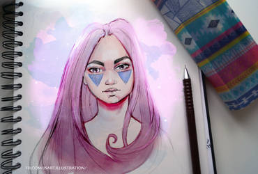 Pink hair by Vegeta3690