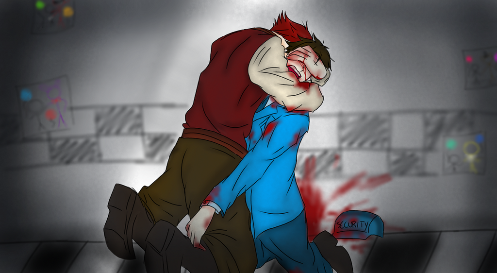 Fnaf foxy x mike why did i bite him by protoxicpeanutbread on