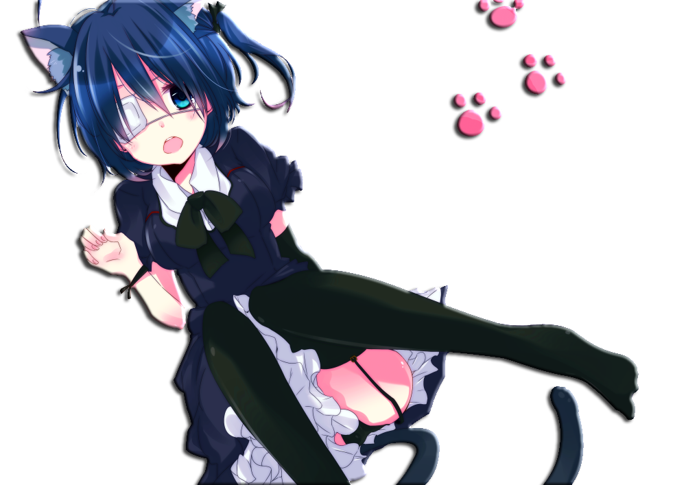 Rikka Anime Render Neko by Hendrix7733