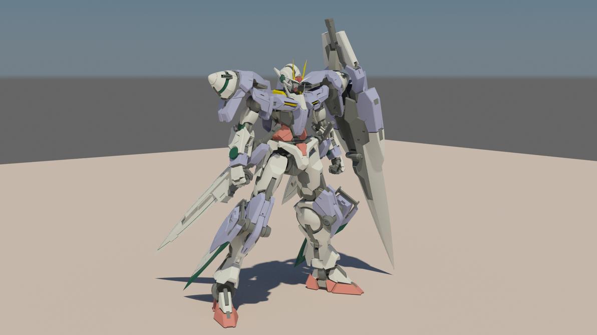 GN-0000/7S 00 Gundam Seven Sword by destinyarchon