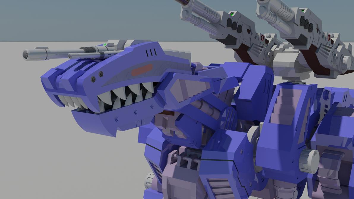 Genosaurer Closeup by destinyarchon