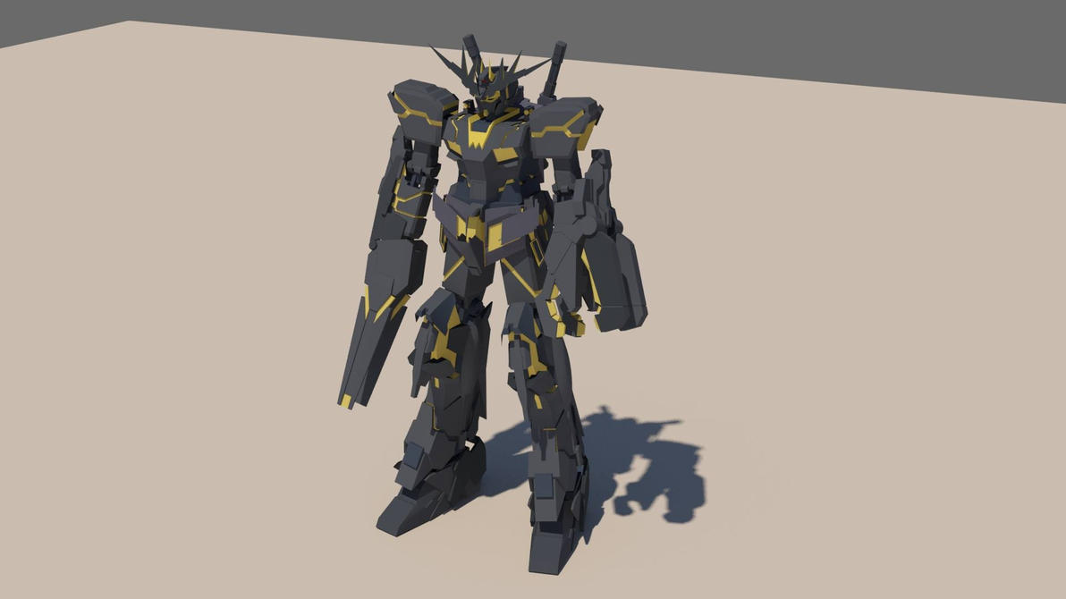Gundam Unicorn Banshee Destroy form by destinyarchon