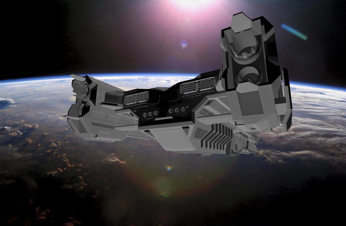 Riptide Battlecruiser by destinyarchon
