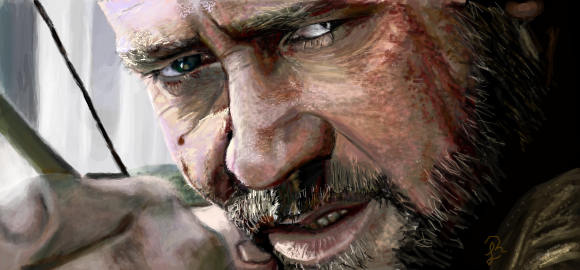 Russell Crowe as Robin Hood by RainnaJL