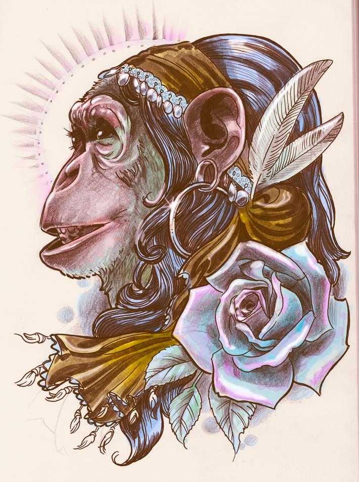Gypsy Chimp by brainleakage