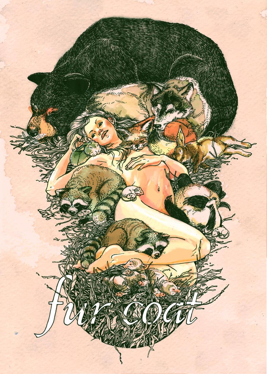fur coat by brainleakage