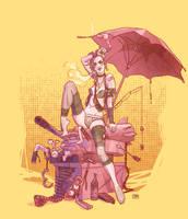 Tankgirl in Pink by brainleakage