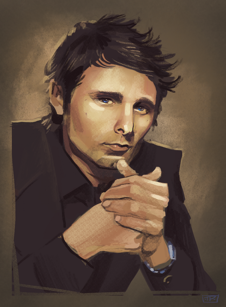 Matt Bellamy: Speed Paint by brainleakage