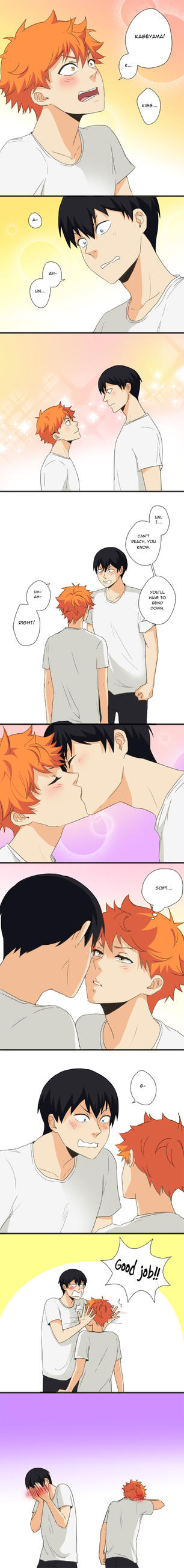 KageHina - First Kiss by Amanduur