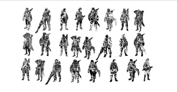 Fantasy Character Silhouettes Toned by Old-Rose
