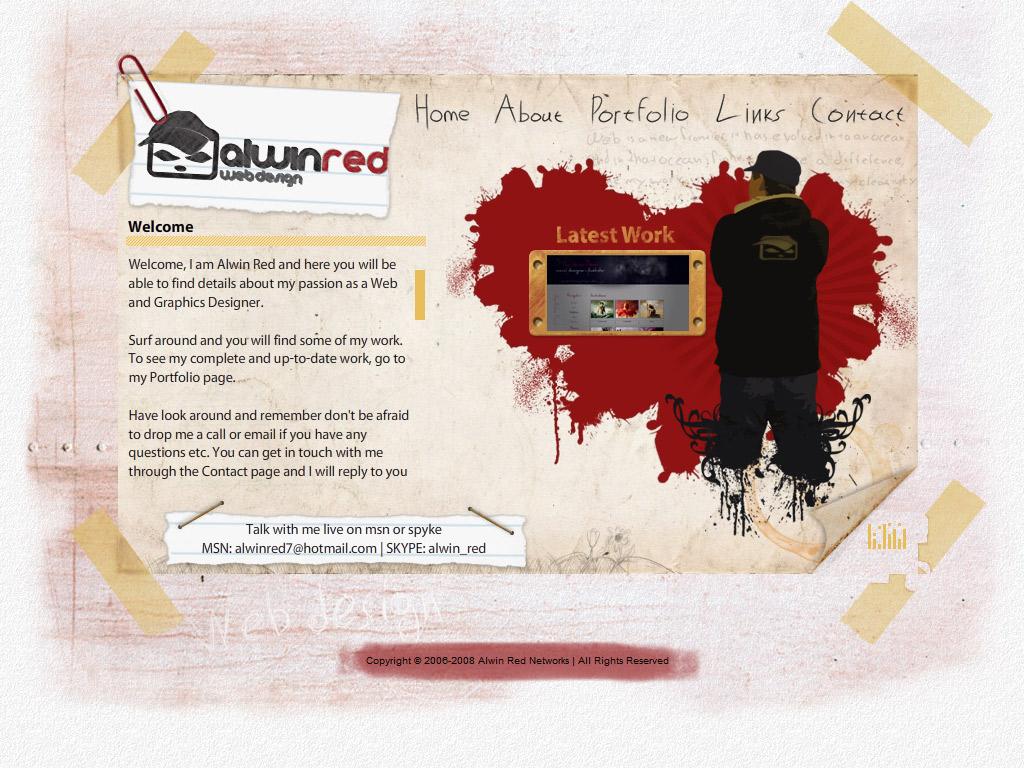 My personal portfolio v2 by alwinred