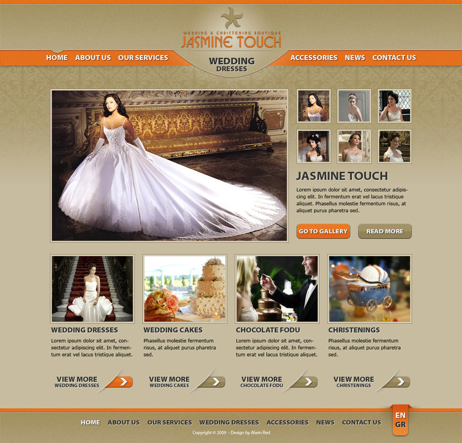 Wedding Dresses Website by alwinred on DeviantArt