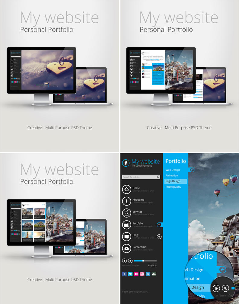 November PSD Theme by alwinred