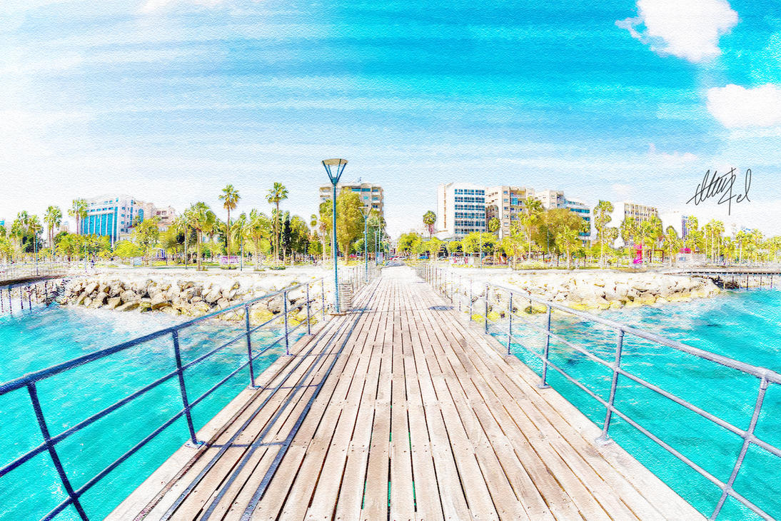 Limassol Pier by alwinred