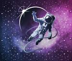 Astronaut In Space - T-Shirt Design