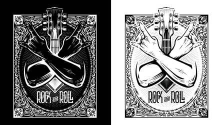 Rock n' Roll T-Shirt Design
