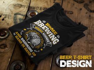 Homebrewing Beer T-Shirt Design