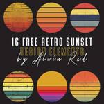 16 Free Retro Sunset Bundle