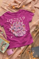 Chibi Kitten, Kawaii Strawberry Milkshake Drink