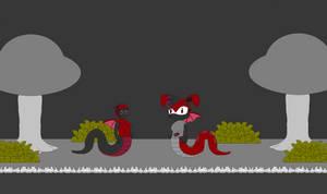 Background Forest Dark Two Snake