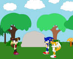 Victoria meet the first time Sonic and Tails