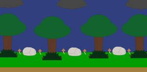 Dark forest builder background