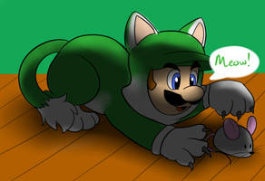 Cat Luigi by raygirl12