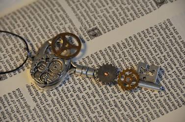 Kinetic Steampunk Key by geekatheart