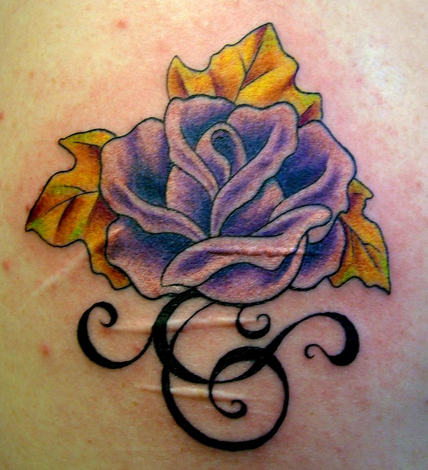 fall flower - flower tattoo