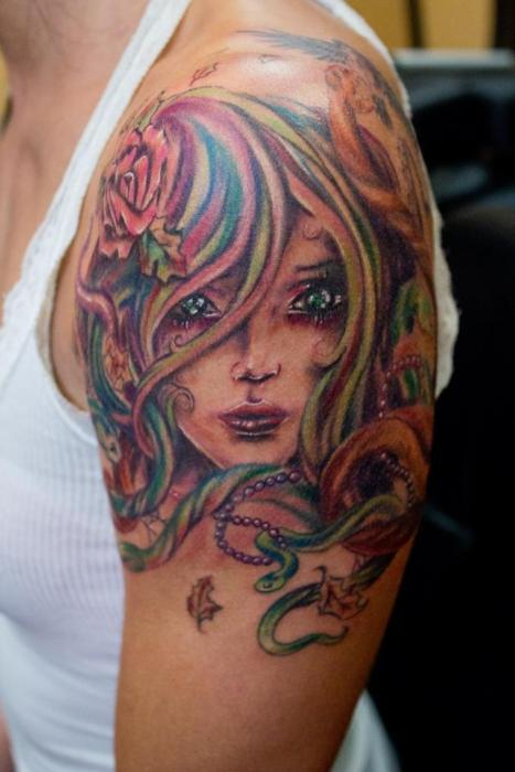 Cool! pretty girl tattos