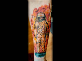 Brand New album cover Astronaut tattoo by seanspoison